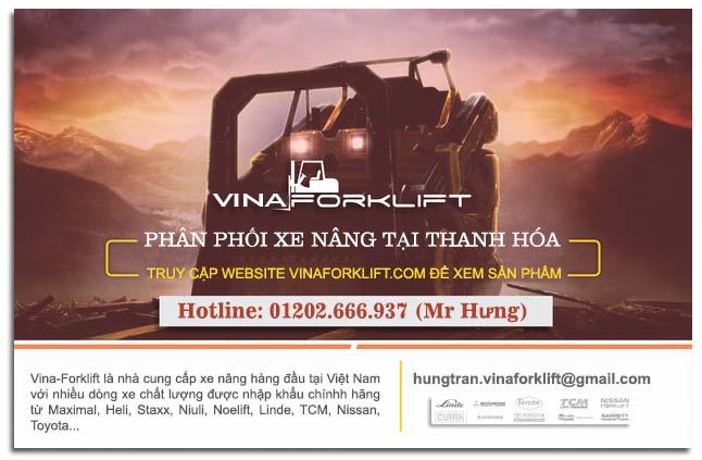 Banner phân phối xe nâng ở Thanh Hóa