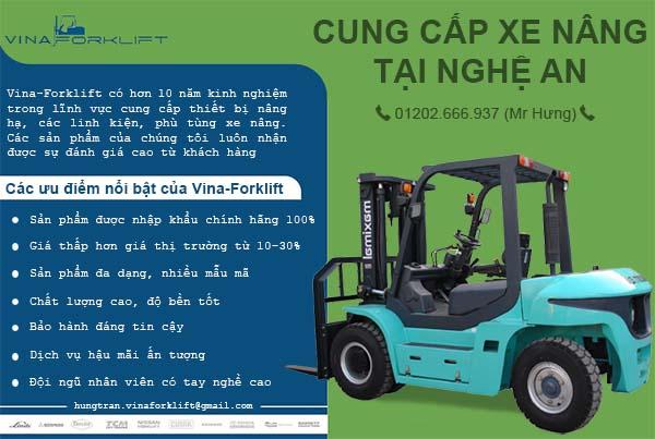 Tiếp cập thị trường xe nâng tại Nghệ An