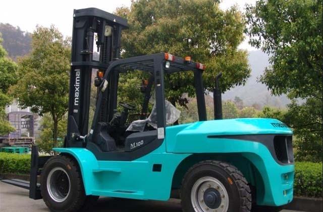 Xe forklift động cơ dầu 8-12 tấn của Maximal