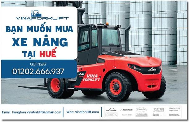 Banner phân phối xe nâng tại Huê